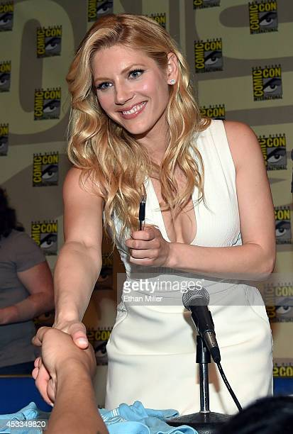 Actress Katheryn Winnick greets fans during a panel for the History series Vikings during ComicCon International 2014 at the San Diego Convention...