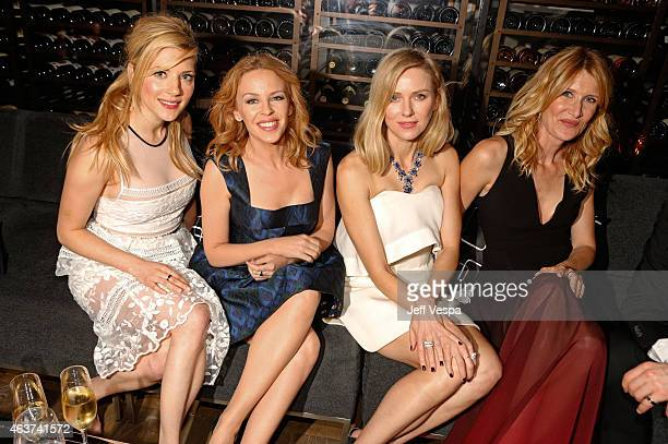 Actress Katheryn Winnick singer Kylie Minogue actresses Naomi Watts and Laura Dern attend BVLGARI and Save The Children STOP THINK GIVE PreOscar...