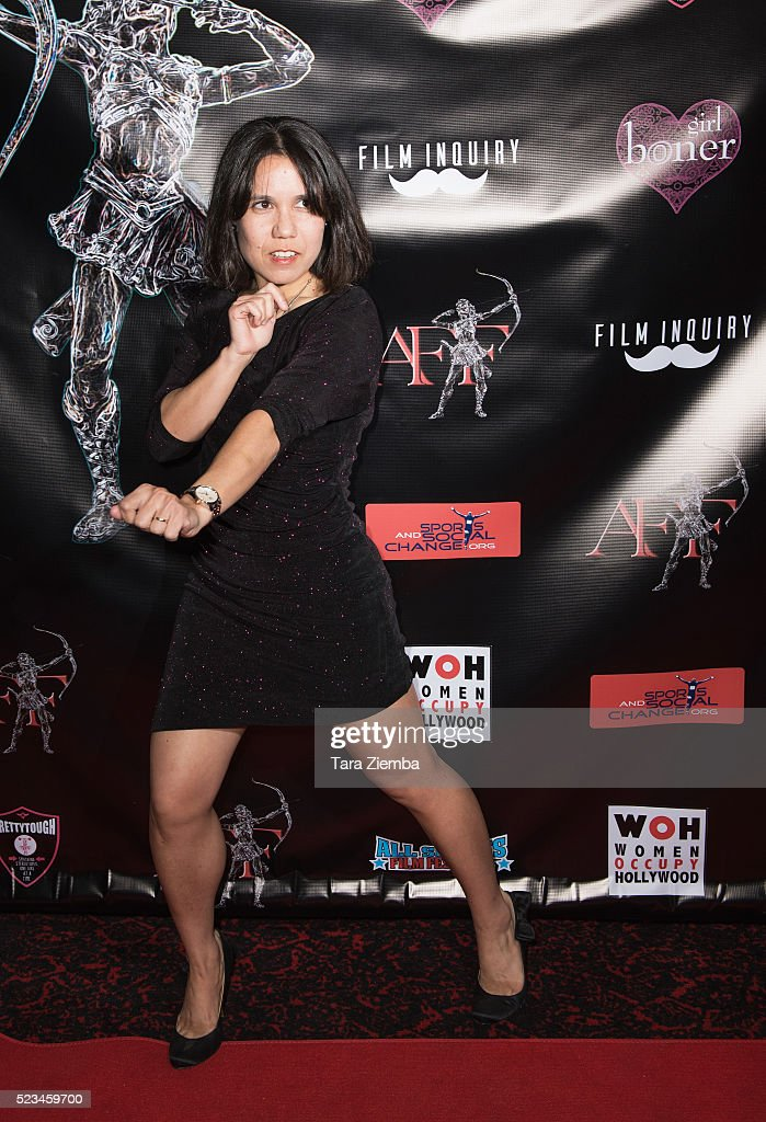 Actress Katheryng Win attends the 2nd Annual Artemis Film Festival-Red Carpet Opening Night/Awards Presentation at Ahrya Fine Arts Movie Theater on April 22, 2016 in Beverly Hills, California.