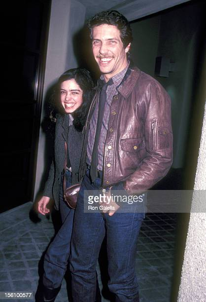 Actress Kathleen Beller and husband Michael Hoit attend the Grand Opening Celebration of Santo Pietro Restaurant on January 21 1983 at Santo Pietro...