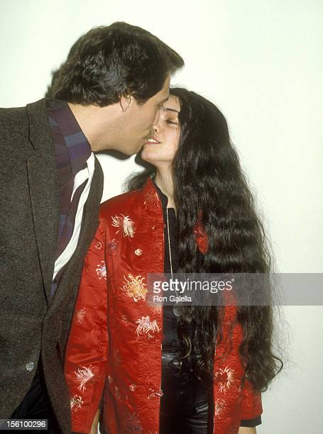 Actress Kathleen Beller and husband Michael Hoit attends The Caucus of Artists for Merger Inc Celebrity Casino Nite Fundraiser on April 23 1983 at...