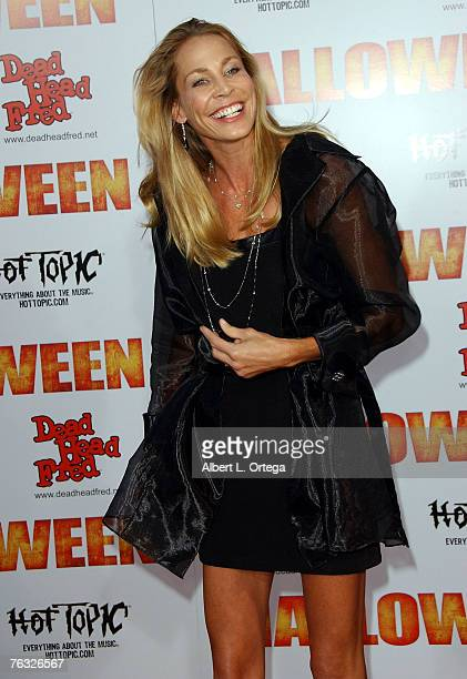 Actress Kathleen Kinmont attends the world premiere of Rob Zombie's Halloween at Grauman's Chinese Theater in Hollywood California