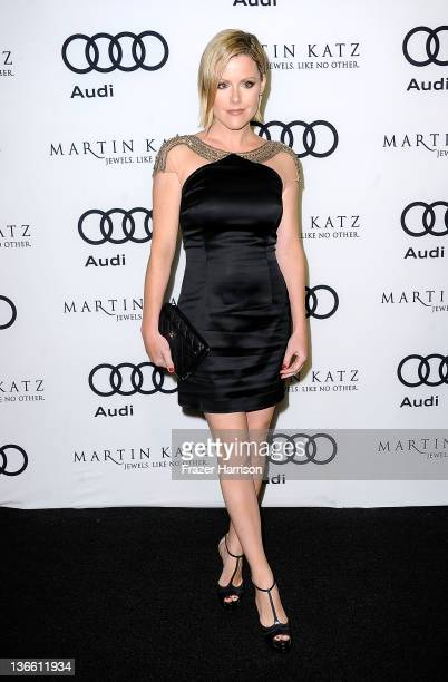 Actress Kathleen Robertson arrives at Audi Celebrates The 2012 Golden Globe Awards at Ceconni's on January 8 2012 in West Hollywood California