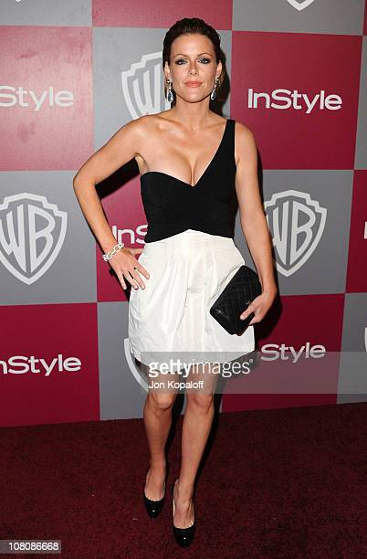 Actress Kathleen Robertson arrives at the 2011 InStyle/Warner Brothers Golden Globes Party at The Beverly Hilton hotel on January 16 2011 in Beverly...