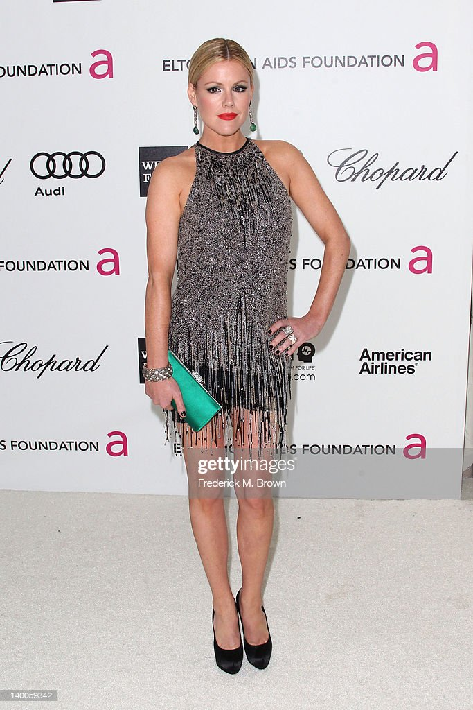 Actress Kathleen Robertson arrives at the 20th Annual Elton John AIDS Foundation's Oscar Viewing Party held at West Hollywood Park on February 26, 2012 in West Hollywood, California.