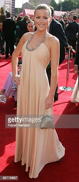 Actress Kathleen Robertson arrives at the 57th Annual Emmy Awards held at the Shrine Auditorium on September 18 2005 in Los Angeles California