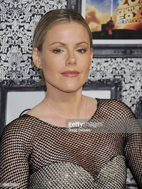 Actress Kathleen Robertson arrives at the Family Equality Council's Annual Los Angeles Awards Dinner at The Globe Theatre on February 8 2014 in...