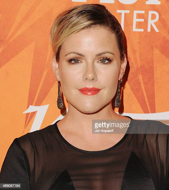 Actress Kathleen Robertson arrives at the Variety And Women In Film Annual PreEmmy Celebration at Gracias Madre on September 18 2015 in West...