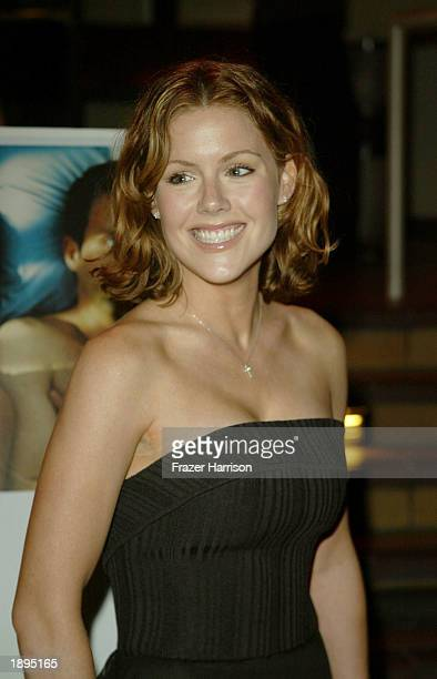 Actress Kathleen Robertson arrives for the premiere of XX/XY at the Sunset 5 Laemmle Theatre on April 3 Hollywood California