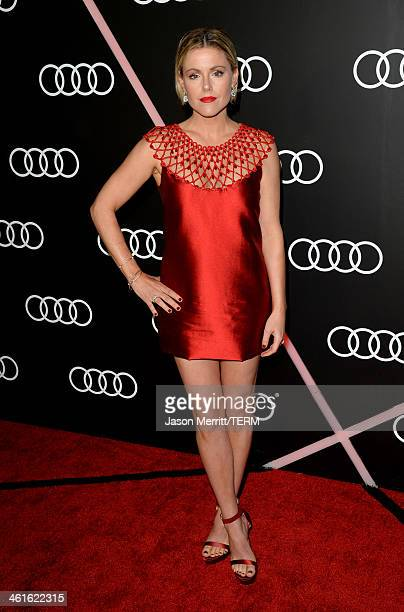 Actress Kathleen Robertson attends Golden Globes Weekend Audi Celebration at Cecconi's on January 9 2014 in Beverly Hills California