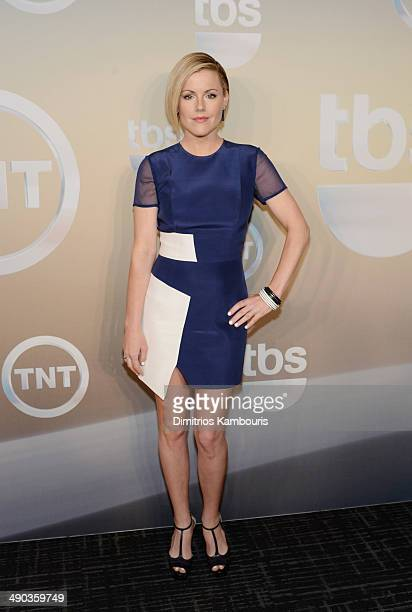 Actress Kathleen Robertson attends the TBS / TNT Upfront 2014 at The Theater at Madison Square Garden on May 14 2014 in New York City...