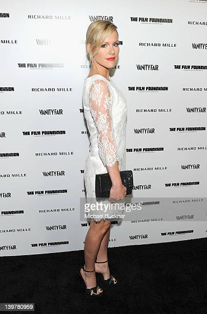 Actress Kathleen Robertson attends the Vanity Fair and Richard Mille celebration of Martin Scorsese in support of The Film Foundation at Hotel BelAir...