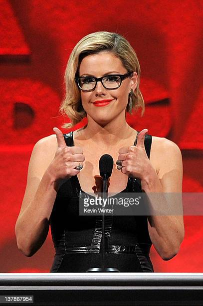 Actress Kathleen Robertson speaks onstage during the 64th Annual Directors Guild Of America Awards held at the Grand Ballroom at Hollywood Highland...