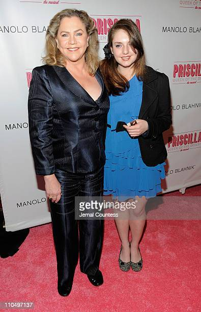 Actress Kathleen Turner and Rachel Ann Weiss attend the Broadway opening night of Priscilla Queen of the Desert The Musical at the Palace Theatre on...