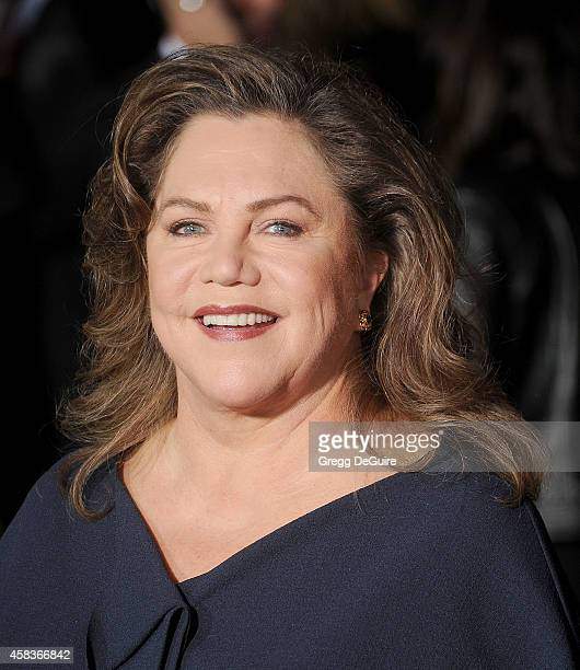 Actress Kathleen Turner arrives at the Los Angeles premiere of Dumb And Dumber To at Regency Village Theatre on November 3 2014 in Westwood California