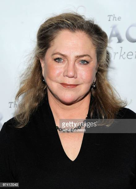 """Actress Kathleen Turner attends the Broadway opening of """"The Miracle Worker"""" at the Circle in the Square on March 3, 2010 in New York City."""
