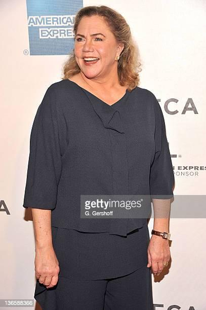 Actress Kathleen Turner attends the premiere of 'The Perfect Family' during the 10th annual Tribeca Film Festival at BMCC Tribeca PAC on April 24...