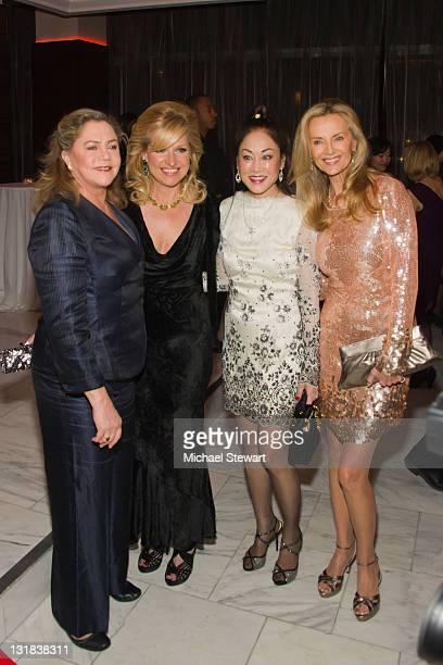 Actress Kathleen Turner CEO of HSN Mindy Grossman composer Lucia Hwong Gordon and philanthropist Bonnie Pfeifer Evans attend the 26th Annual Women's...