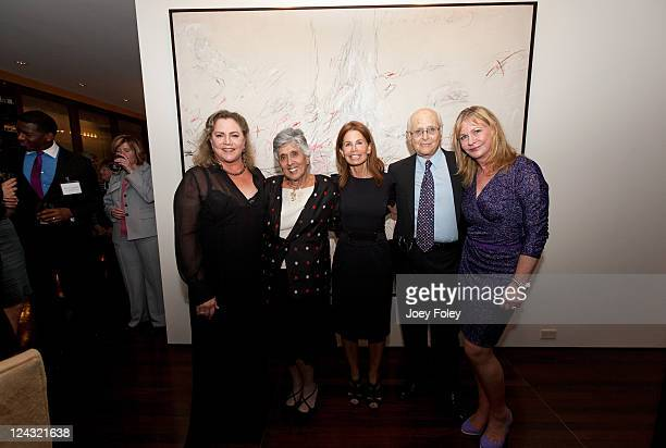 Actress Kathleen Turner Joan Harris Barbara BluhmKaul and Television writer/producer Norman Lear with his wife Lyn Davis attend the 30th Anniversary...