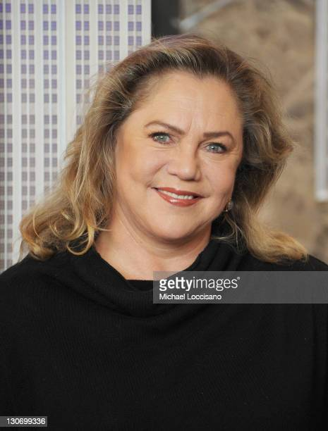 Actress Kathleen Turner lights The Empire State Building on October 28, 2011 in New York City.