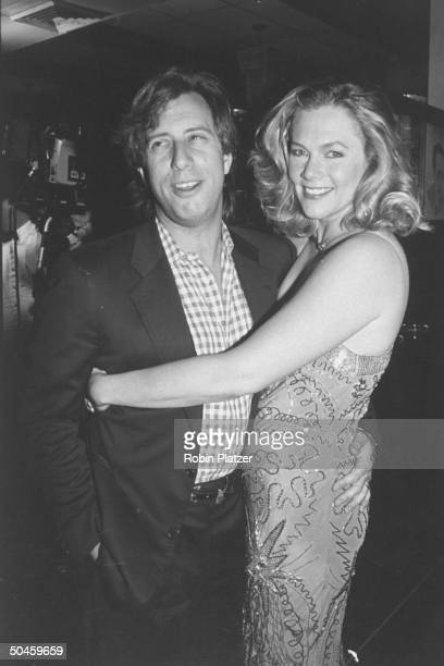 Actress Kathleen Turner w her husband Jay Weiss at Tony Awards party at Sardi's restaurant