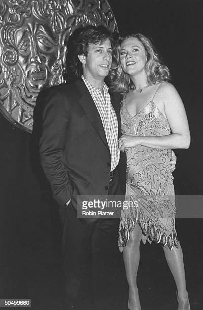 Actress Kathleen Turner w her husband Jay Weiss at Tony Awards party at Sardi's restaurant