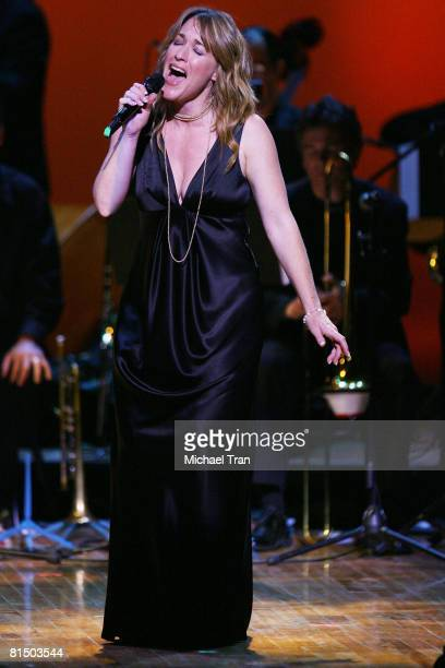 Actress Kathleen Wilhoite performs at the What A Pair 6 a celebrity concert benefiting The John Wayne Cancer Institute at St John's Health Center...
