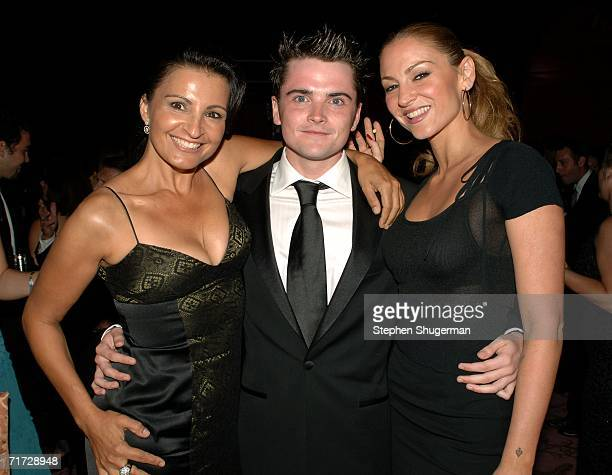 Actress Kathrine Narducci actor Robert Iler and actress Drea de Matteo attend the HBO Post Emmy Party held at The Plaza at the Pacific Design Center...