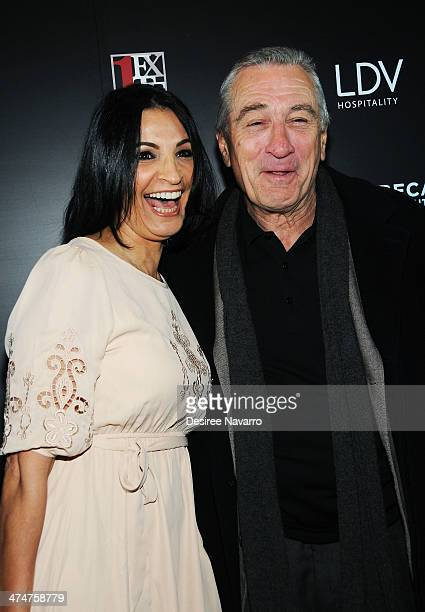 Actress Kathrine Narducci and actor/director Robert De Niro attend Tribeca Film Institute's 20th Anniversary Benefit Screening Of A Bronx Tale at...