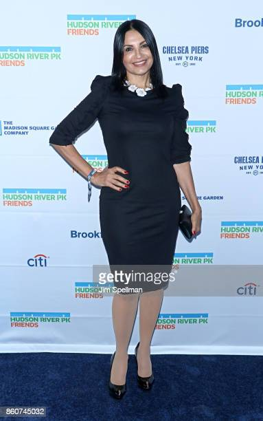 Actress Kathrine Narducci attends the 2017 Hudson River Park gala at Hudson River Park's Pier 62 on October 12 2017 in New York City
