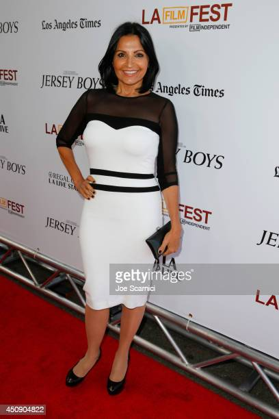 Actress Kathrine Narducci attends the closing night film premiere of Jersey Boys during the 2014 Los Angeles Film Festival at Premiere House on June...