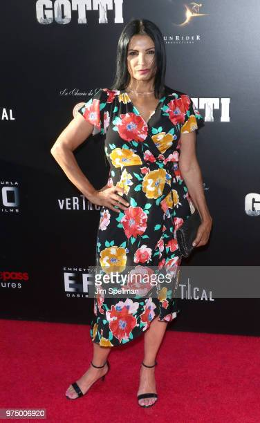 Actress Kathrine Narducci attends the Gotti New York premiere at SVA Theater on June 14 2018 in New York City
