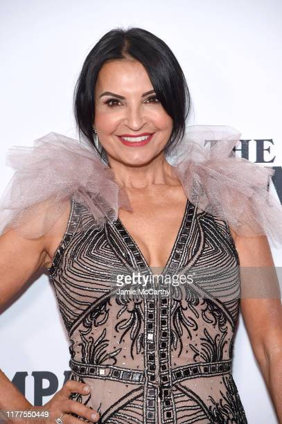 Actress Kathrine Narducci attends The Irishman screening during the 57th New York Film Festival at Alice Tully Hall Lincoln Center on September 27...