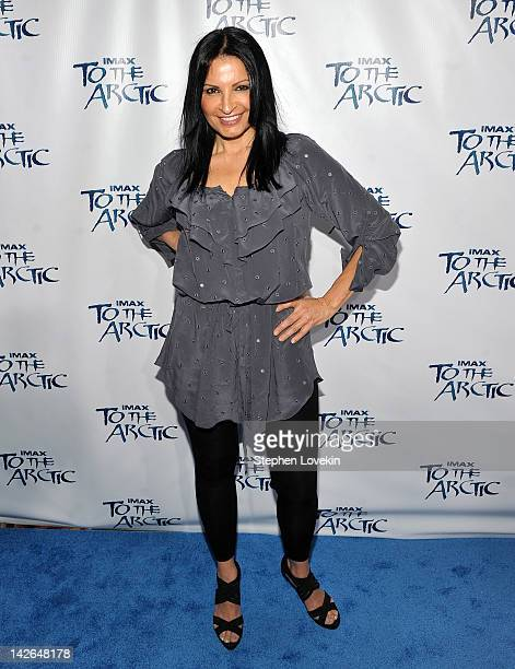 Actress Kathrine Narducci attends the To the Arctic 3D premiere at AMC Loews Lincoln Square on April 10 2012 in New York City