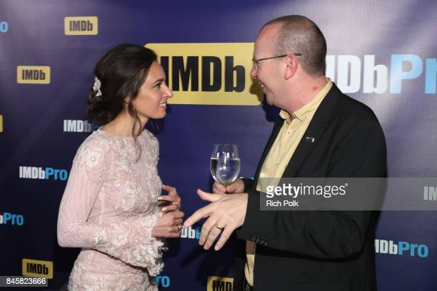 Actress Kathryn Aboya and Founder CEO of IMDb Col Needham attend The Annual IMDb Dinner Party At The 2017 Toronto International Film Festival at...