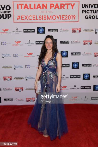 Actress Kathryn Aboya attends the Italian Party presents Excelsis Movie Sneak Peek at ShangriLa Hotel on February 22 2019 in Toronto Canada