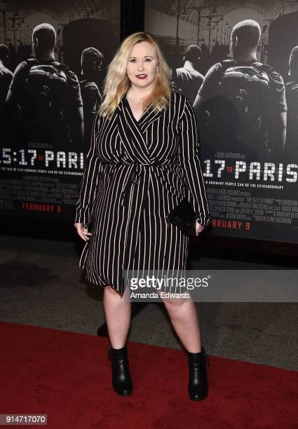 Actress Kathryn Eastwood arrives at the premiere of Warner Bros Pictures' The 1517 To Paris at Warner Bros Studios on February 5 2018 in Burbank...
