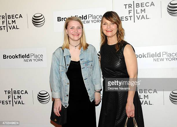 Actress Kathryn Erbe and her daughter Maeve Elsbeth Erbe Kinney attend 2015 Tribeca Film Festival World Premiere Narrative 'Tumbledown' at BMCC...