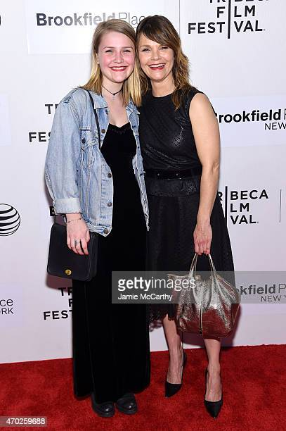 Actress Kathryn Erbe and Maeve Elsbeth Erbe Kinney attend the premiere of 'Tumbledown' during the 2015 Tribeca Film Festival at BMCC Tribeca PAC on...