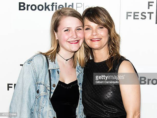 Actress Kathryn Erbe and Maeve Elsbeth Erbe Kinney attend the world premiere of 'Tumbledown' during the 2015 Tribeca Film Festival at BMCC Tribeca...