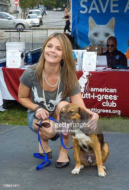 Actress Kathryn Erbe attends the 2011 North Shore Animal Muttigrees Mania launch on September 25 2011 in New York United States