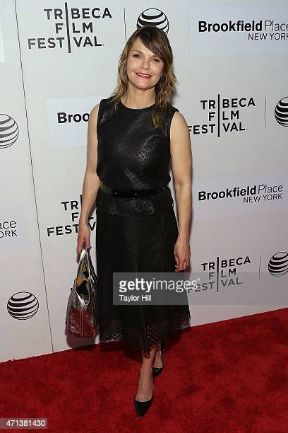 Actress Kathryn Erbe attends the world premiere of 'Tumbledown' during the 2015 Tribeca Film Festival at BMCC Tribeca PAC on April 18 2015 in New...