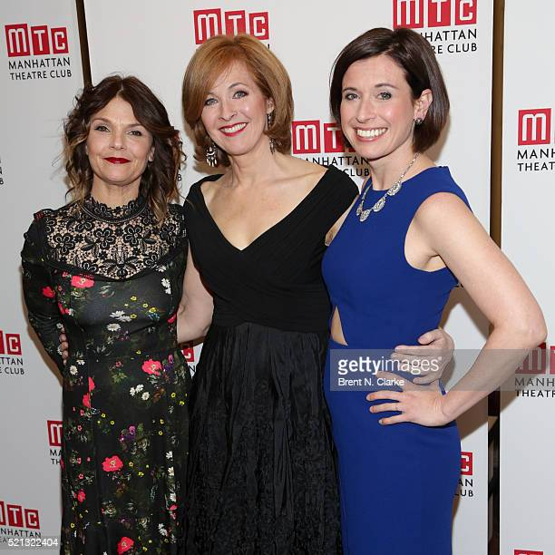 Actress' Kathryn Erbe Kathleen McNenny and Hannah Cabell attend the cast party following the opening night performance of The Father held at the...