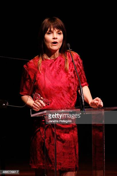 Actress Kathryn Erbe presentrs onstage at the 29th Annual Lucille Lortel Awards at NYU Skirball Center on May 4 2014 in New York City