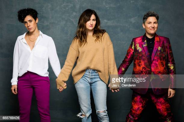 Actress Kathryn Hahn actress Roberta Colindrez and director Jill Soloway from the Amazon series I Love Dick are photographed at the 2017 Sundance...