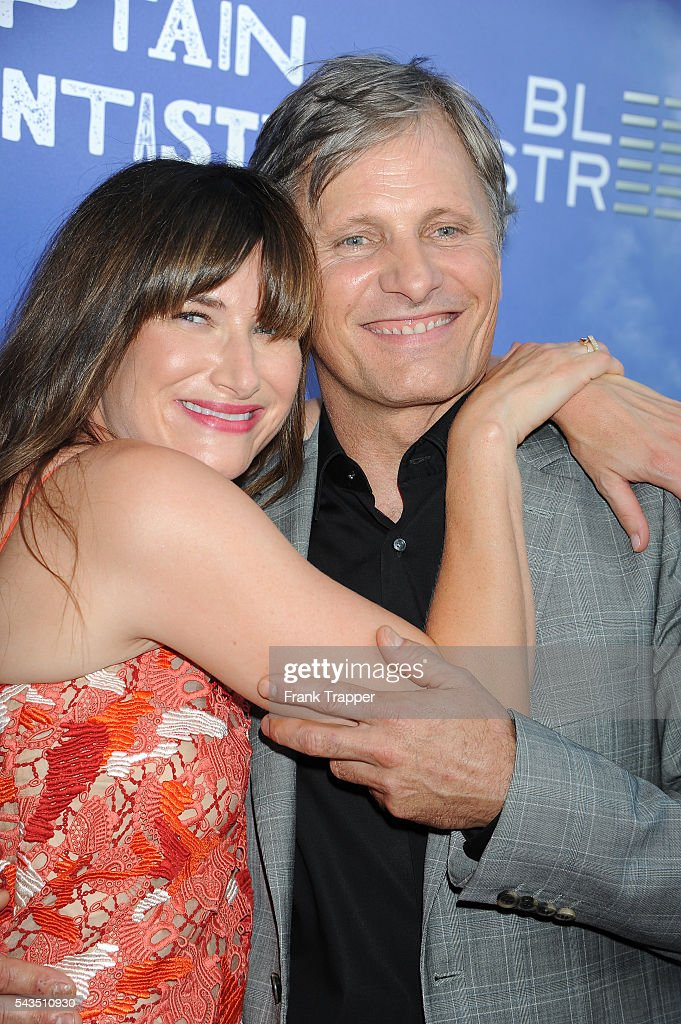 Actress Kathryn Hahn and actor Viggo Mortensen attend the premiere of Bleecker Street Media's 'Captain Fantastic' held at the Harmony Gold Theater on June 28, 2016 in Hollywood, California.