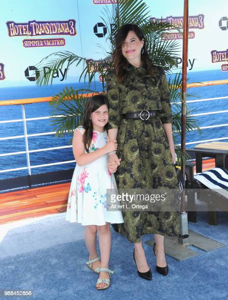 Actress Kathryn Hahn and daughter Mae Sandler arrive for Columbia Pictures And Sony Pictures Animation's World Premiere Of Hotel Transylvania 3...