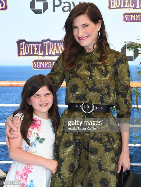 Actress Kathryn Hahn and daughter Mae Sandler attend Columbia Pictures and Sony Pictures Animation's World Premiere of 'Hotel Transylvania 3 Summer...