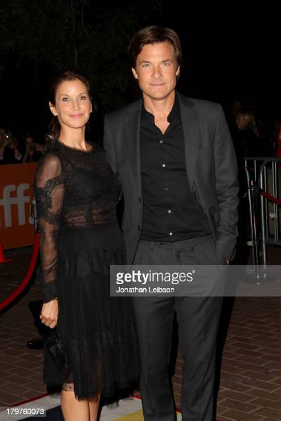 Actress Kathryn Hahn and director/producer/actor Jason Bateman arrive at the Bad Words premiere during the 2013 Toronto International Film Festival...