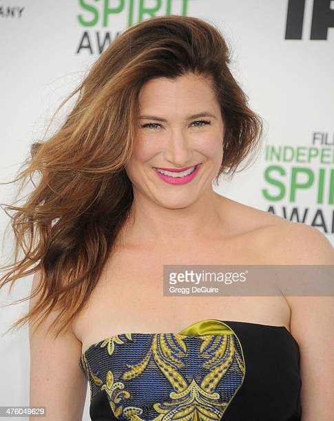 Actress Kathryn Hahn arrives at the 2014 Film Independent Spirit Awards on March 1 2014 in Santa Monica California
